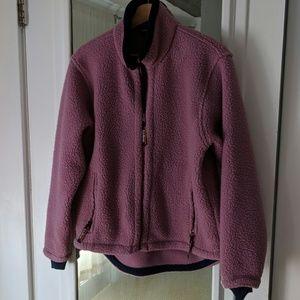 NWOT L.L. Bean Raspberry Sherpa Zip Up Jacket